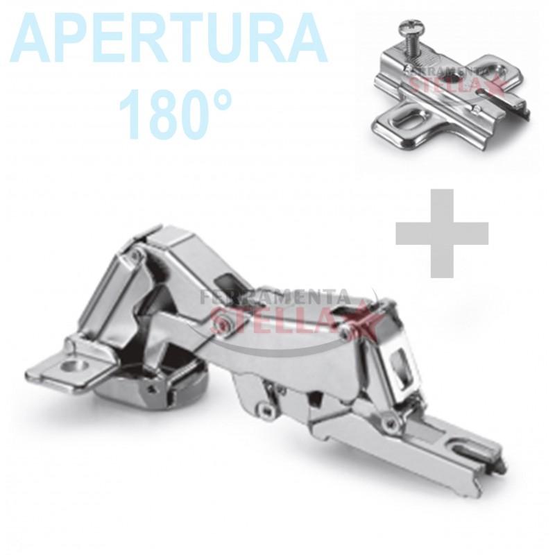 Cerniera cerniere tipo salice apertura 180 gradi x ante pensili mobili cucina ebay - Cerniere per ante cucina 180 gradi ...