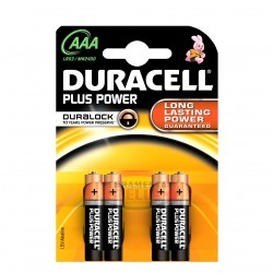 PILE BATTERIE MINISTILO MINI STILO DURACELL PLUS 4 pz