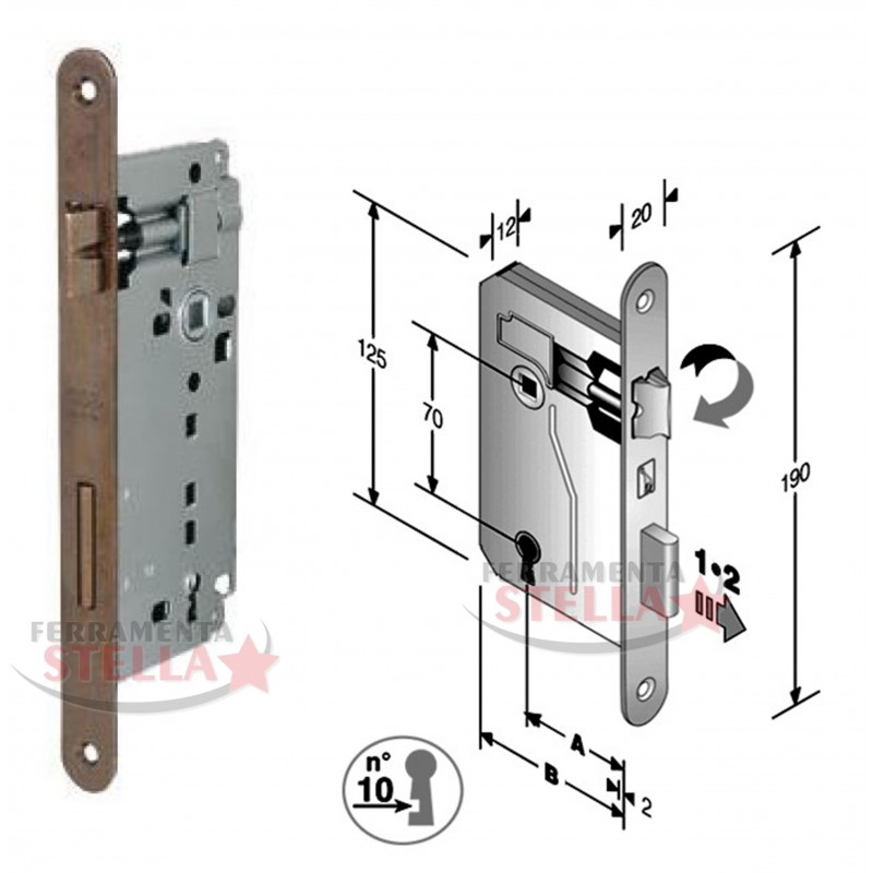 Serratura patent per porte interne bussole - Serrature per porte interne prezzi ...