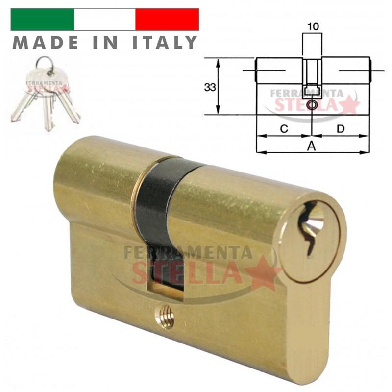 Cilindro made in italy a infilare sagomato tipo yale 62 mm for Estrarre chiave rotta da cilindro