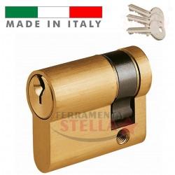 MEZZO CILINDRO MADE IN ITALY a INFILARE SAGOMATO TIPO YALE 40 MM PORTA SERRATURA PORTE CHIAVE
