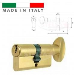 CILINDRO MADE IN ITALY a INFILARE SAGOMATO CON POMOLO OTTONE ORO