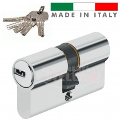 CILINDRO PROFILO EUROPEO MADE IN ITALY a INFILARE SAGOMATO 62 MM - 5 CHIAVI PUNZONATE + SECURITY CARD