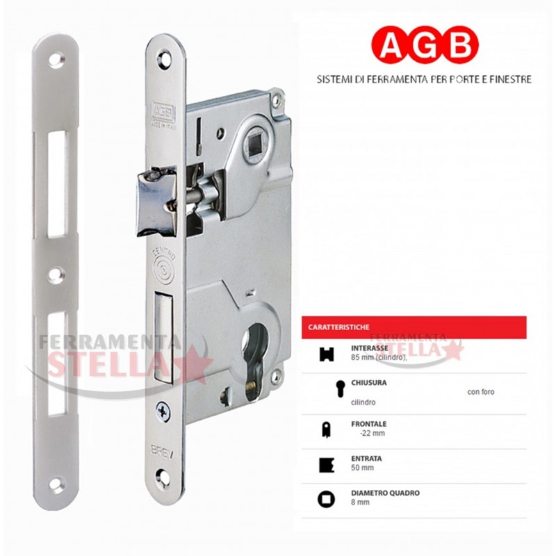 Serratura patent per porte interne bussole tipo centro for Spranga universale per porte