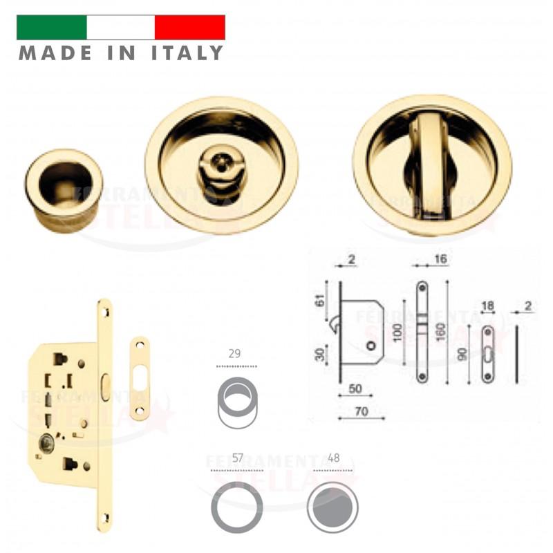 Kit porte scorrevoli con nottolino e serratura porta scrigno interno oro lucido - Porte scorrevoli per interno ...