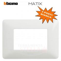 MATIX- Placca 3 posti colore bianco AM4803BBN