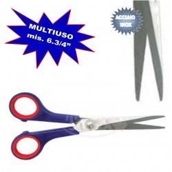 FORBICI MULTIUSO ACCIAIO INOX MIS. 6 3/4 MANICO ROSSO E BLU