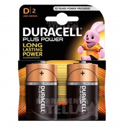 PILE BATTERIE MODELLO TORCIA DURACELL PLUS 2 pz - 1,5V MODELLO D POWER PLUS LR20 MN1300