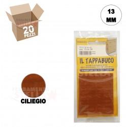 COPRIFORO COPRIVITE ADESIVO PER VITI E FORI DIAMETRO 13 MM - COLORE CILIEGIO - PEZZI 20