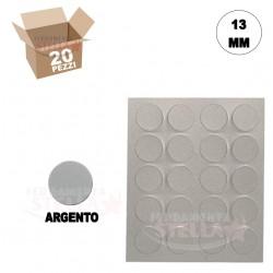 COPRIFORO COPRIVITE ADESIVO PER VITI E FORI DIAMETRO 13 MM - COLORE ARGENTO - PEZZI 20