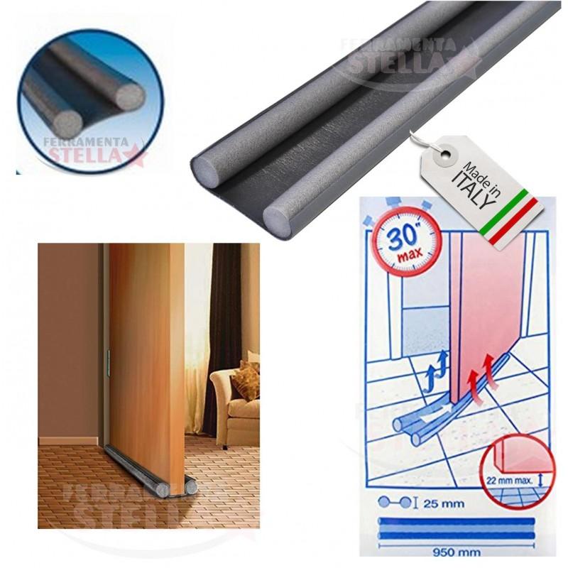 Striscia parafreddo sottoporta antracite nero 95 cm - Paraspifferi per finestre ...