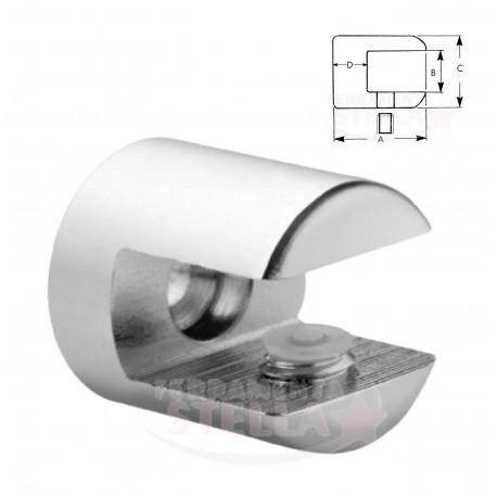 Reggimensola Per Mensole Vetro.Reggimensola Reggi Mensola Vetro Supporto Morsetto Reggimensole Cromo Lucido Diametro 20 Mm