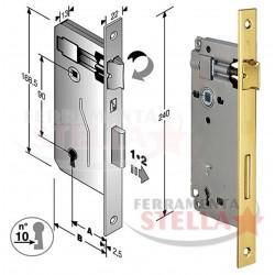 Serratura patent grande per porte interni