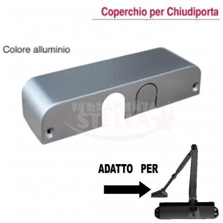 COPERTURA CARTER COPERCHIO COLORE ALLUMINIO PER CHIUDI PORTA CHIUDIPORTA FORZA 2 A 4