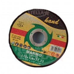 MOLA DISCO TAGLIO SBAVO 115 X 1,6 X 22 MM PIETRA STONE MARMO SMERIGLIATRICE - HAND