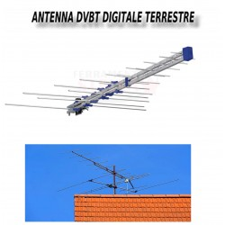 ANTENNA LOGARITMICA ORIZZONTALE DIGITALE 9,5 DB 16 ELEMENTI