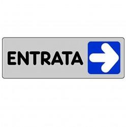 ETICHETTA CARTELLO TARGHETTA ADESIVA ENTRATA FRECCIA DESTRA 15 X 5 CM ADESIVO