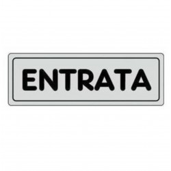 ETICHETTA CARTELLO TARGHETTA ADESIVA ENTRATA 15 X 5 CM