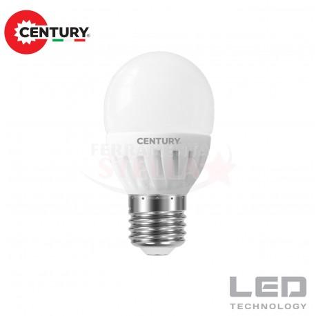 LAMPADINA LAMPADA LED RISPARMIO ENERGETICO - modello SFERA - 8 W - luce CALDA - attacco E 27