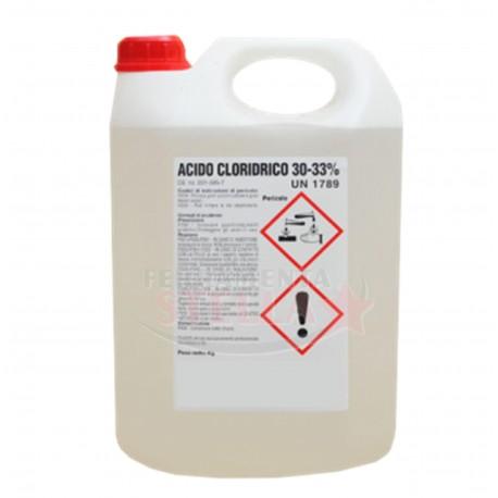ACIDO CLORIDRICO MURIATICO 30 - 33% DETERGENTE DISINCROSTANTE CALCARE 53501 - LT 5