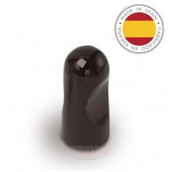 Pomolino nero lucido diam. 12 mm