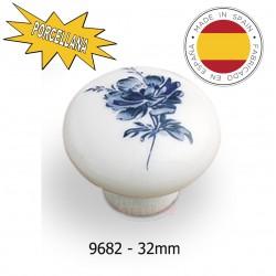 Pomolino porcellana diam.  32 mm