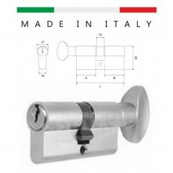 CILINDRO MADE IN ITALY a INFILARE SAGOMATO CON POMOLO OTTONE ORO  DA 62 MM