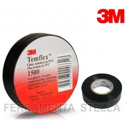 NASTRO ISOLANTE ISOLATO NERO 3M IN PVC  ELETTRICISTA TEMFLEX 1500