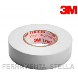 NASTRO ISOLANTE ISOLATO BIANCO 3M IN PVC ELETTRICISTA TEMFLEX 1500