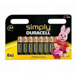 Pile Stilo DURACELL Simply 8 pz