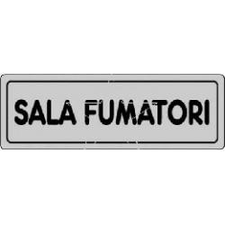 ETICHETTA CARTELLO TARGHETTA ADESIVA SALA FUMATORI 15 X 5 CM