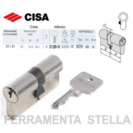 Cilindro a infilare cisa art 0871005 profilo europeo 53mm for Cilindro europeo cisa
