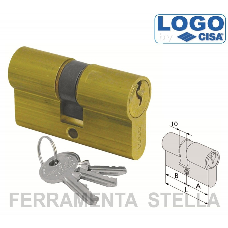 Cilindro logo cisa a infilare sagomato yale 59 mm porta - Cilindro europeo cisa 5 chiavi ...