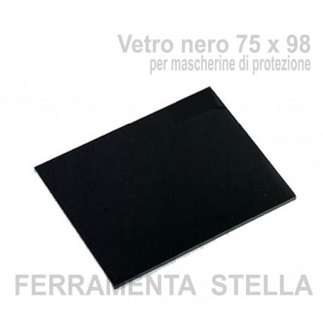 Vetro nero 75 x 98 per mascherine di protezione