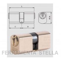 CILINDRO PROFILATO IN OTTONE TONDO SFACCETTATO ISEO 842028287 x SERRATURE A INFILARE
