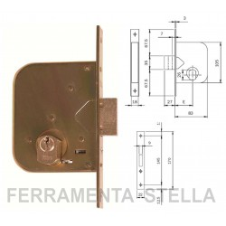 Serratura Iseo art. 601450 per cancelli