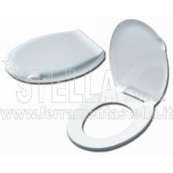 Sedile WC bianco Eco in plastica