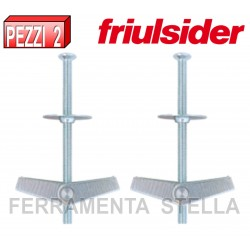 TASSELLO A  FARFALLA CON VITE SENZA DADO M4