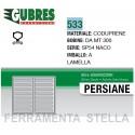 GUARNIZIONE ART 533 PER INFISSI COLORE NERO PER NACO SP 54 x LAMELLE ORIENTABILI GUBRES