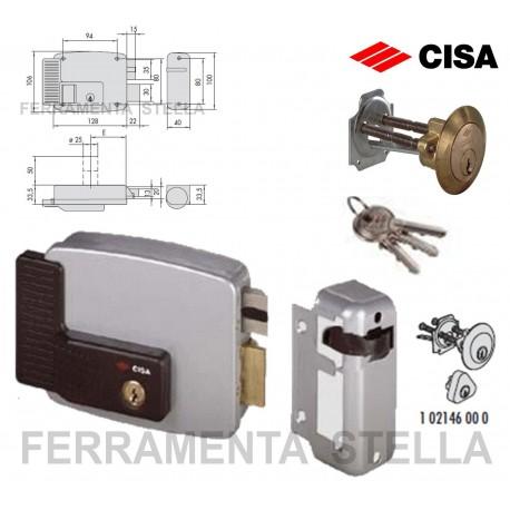 SERRATURA ELETTRICA CISA 11611.50 D MM.50 ELETTROSERRATURA APPLICARE PORTA LEGNO