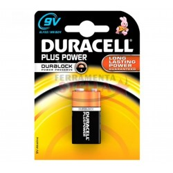 PILA ZINCO QUADRA 9 V DURACELL PLUS POWER