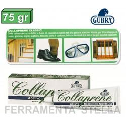 COLLAPRENE GUBRA COLLA ADESIVO 75 gr PER METALLI TESSUTI LEGNO GOMMA CUOIO CARTA