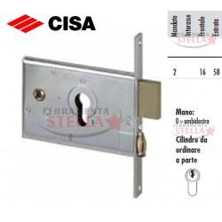 SERRATURA CISA 44151 A INFILARE A FASCIA x ALLUMINIO ANTA