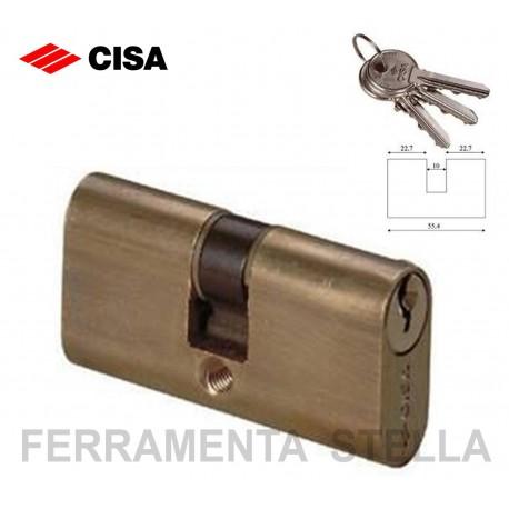 CILINDRO CISA DA INFILARE OVALE 70MM PORTA SERRATURA PORTE 3 CHIAVI CHIAVE