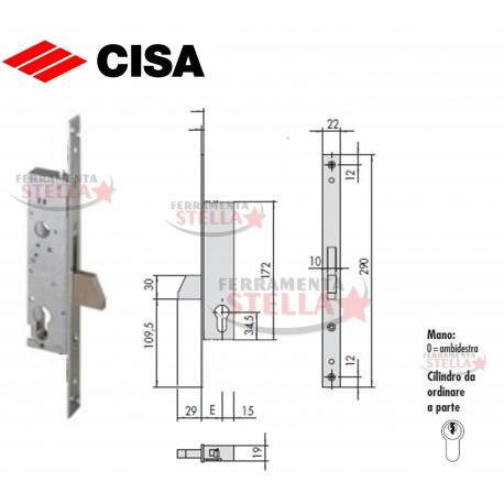 Serratura cisa 46310 a infilare portone porta ferro - Porta esterna in alluminio ...