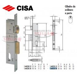 SERRATURA CISA 44235 A INFILARE x ANTA IN FERRO ALLUMINIO
