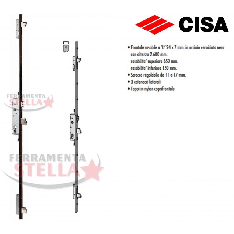 Serratura Cisa 46425 Multipunto Per Portone Porta Ferro Alluminio