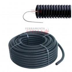 Tubo protettivo corrugato nero diam.  20 mm 10 Mt.