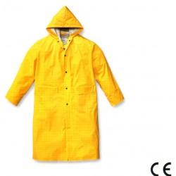 Impermeabile cappotto giallo