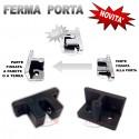 PINZA GANCIO FERMA BLOCCA PORTA IMPOSTA INFISSI FERMAIMPOSTA A VITE ESTERNO NERO